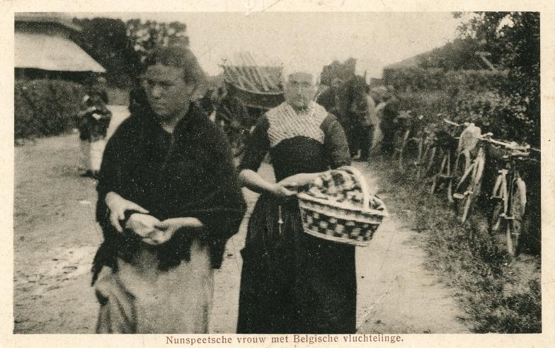 Belgische vluchtelinge en Nunspeetse vrouw