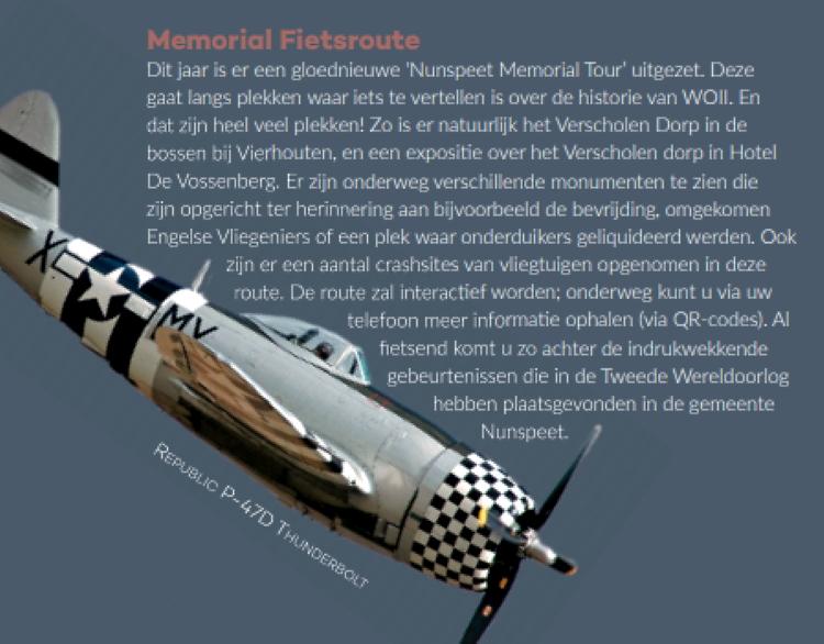 Memorial route magazine